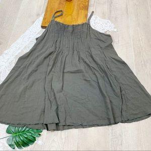 Converse Gray Spaghetti Strap Mini Dress XL 1844